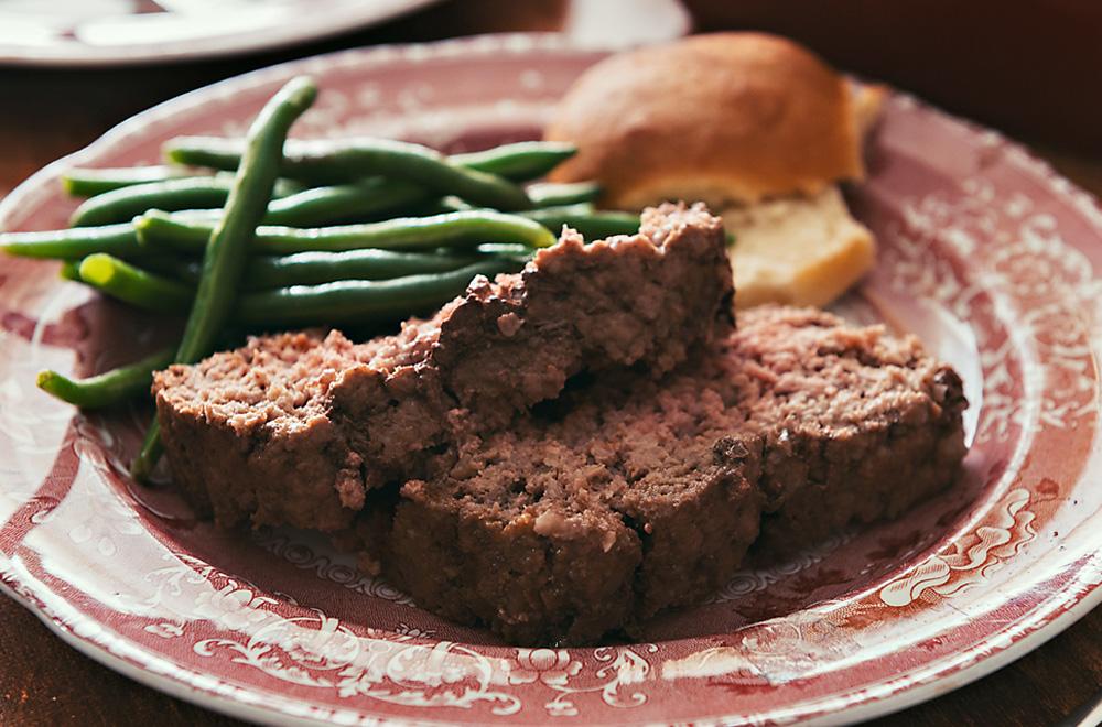 Meatloaf on Plate